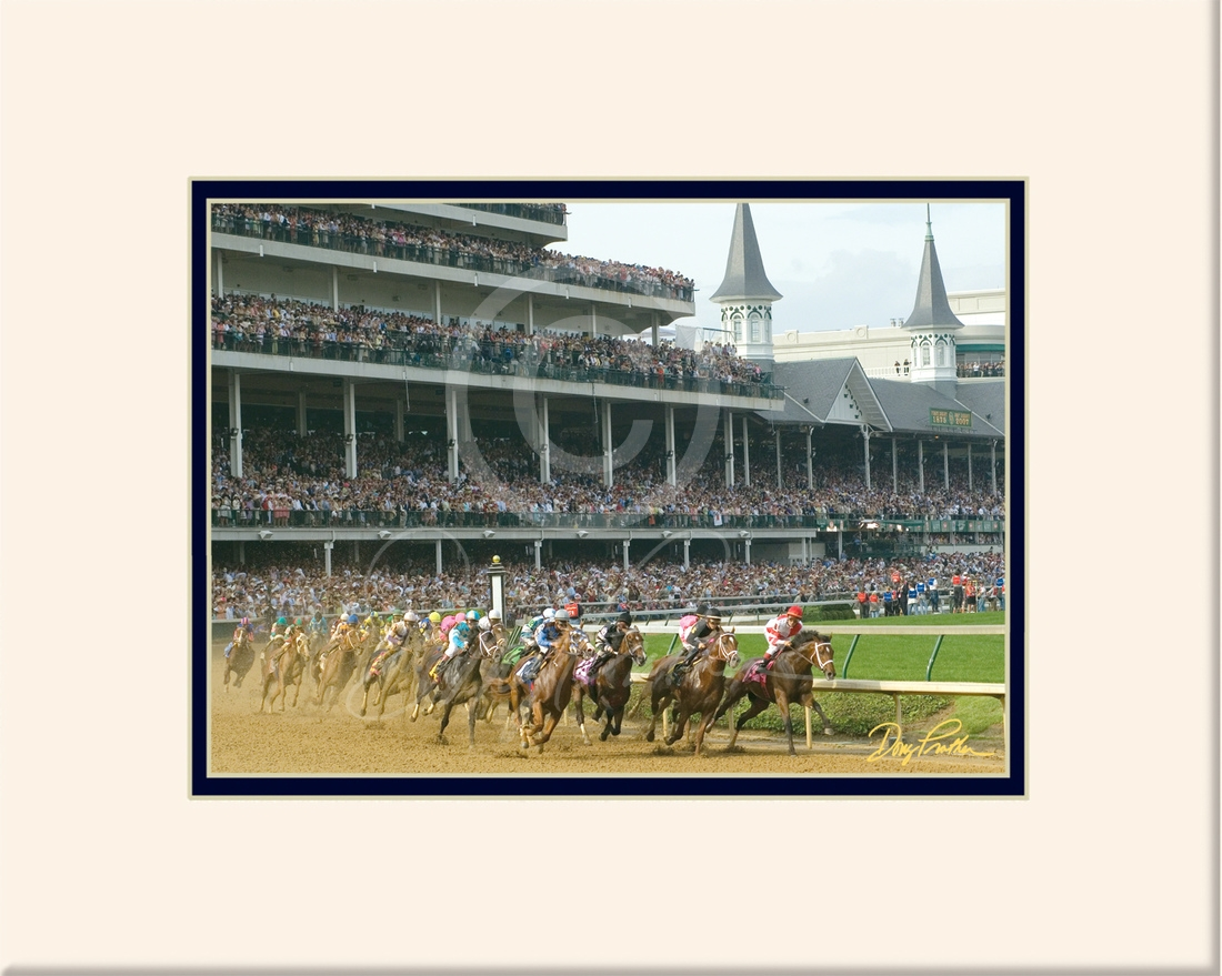 The Kentucky Derby, a fine art horse racing print. The Classic race of Thoroughbred horses known as The Fastest Two Minutes in Sports, Churchill Downs, Louisville, KY. Photograph by Doug Prather